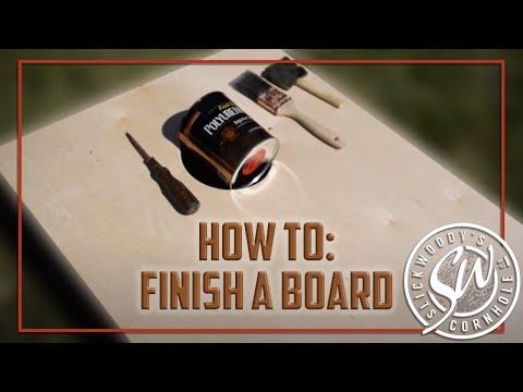 How to Finish a Cornhole Board