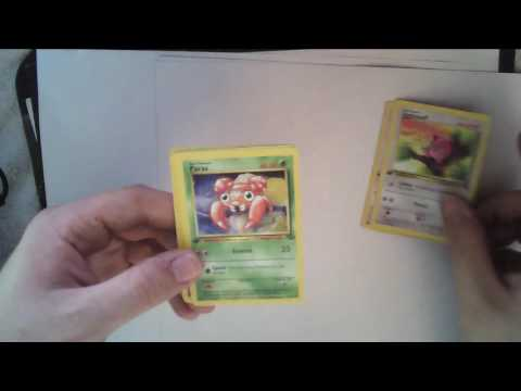 Opening First Edition Scyther Jungle Pokemon Booster Pack