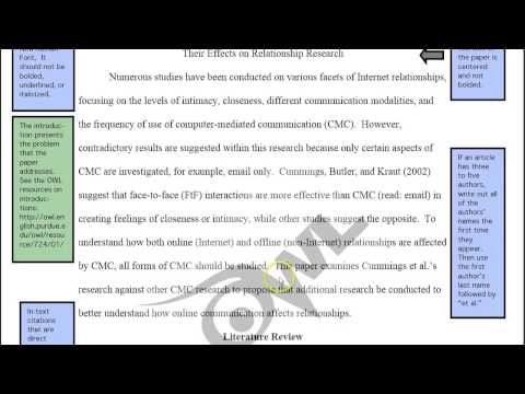 APA example paper