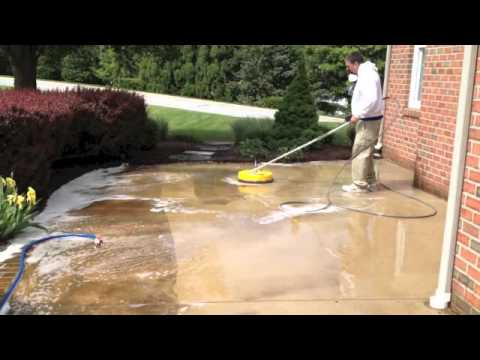 Pressure Washing Concrete and Brick Patio York, PA - May 14, 2013