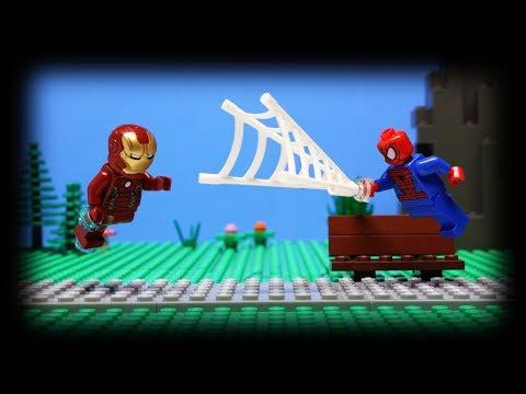 Lego Spider-Man vs. Lego Iron Man - Prank War!