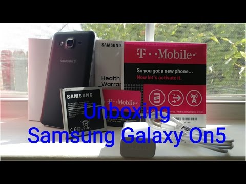 Samsung Galaxy On 5 T-Mobile Unboxing