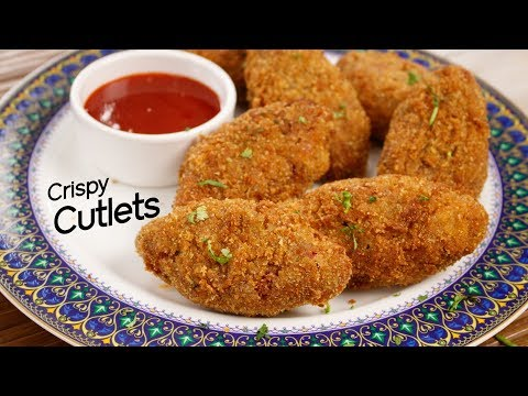 Vegetable Cutlet - Crispy Street Style Evening Snack Recipe - CookingShooking