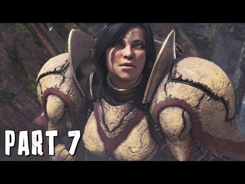 ANJANATH IN MONSTER HUNTER WORLD Walkthrough Gameplay Part 7 (MHW)