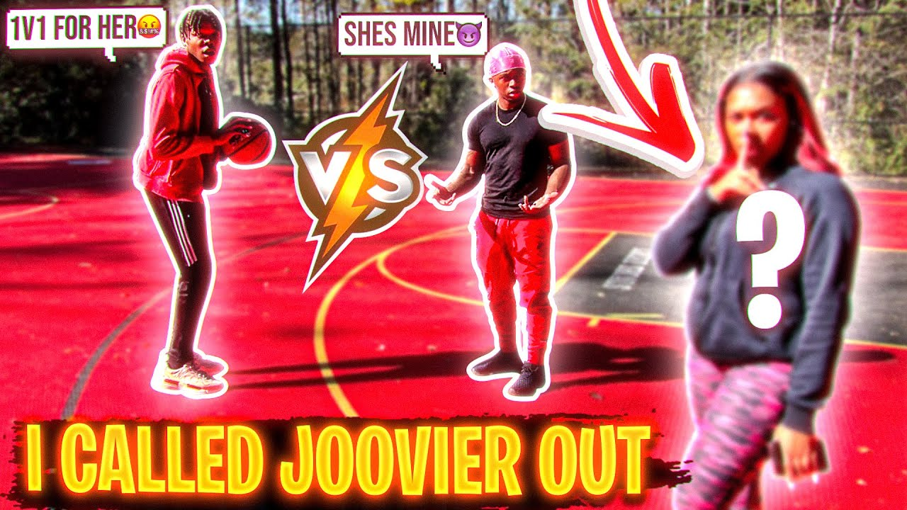 1V1 BASKETBALL vs Joovier! **If I win I get HER** (Never seen him this mad)😡