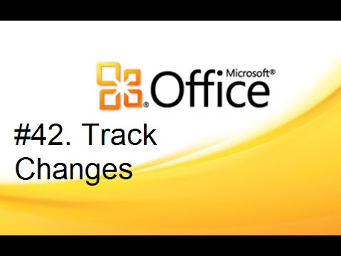 Lesson #42 Track Changes  (MS Office Word 2007/2010 Tutorial in Hindi & Urdu)