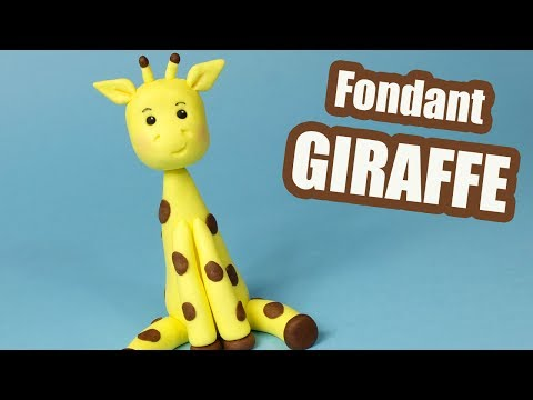 GIRAFFE Cake Topper Tutorial How to make fondant giraffe