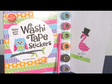 Make Your Own Washi Tape Stickers from Klutz