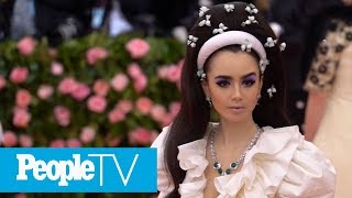 Lily Collins' Met Gala Necklace Had Its Own Security Guard And A Special Key To Unlock It | PeopleTV