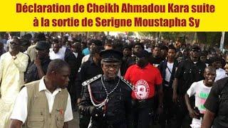 Urgent : Déclaration de Cheikh Ahmadou Kara suite  à la sortie de Serigne Moustapha Sy
