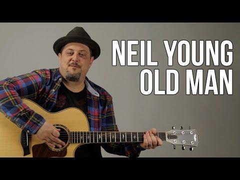 Neil Young - Old Man Guitar Lesson - How to play on guitar - Tutorial