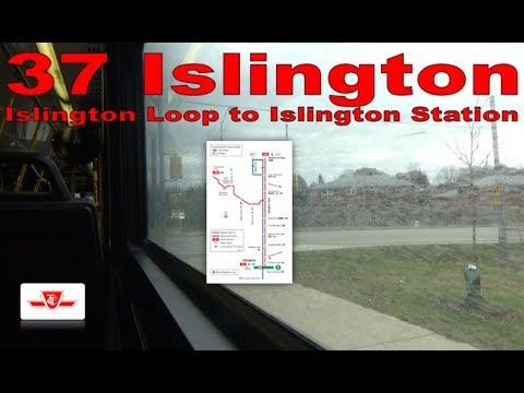 37 Islington - TTC 2007 Orion VII 8046 (Islington Loop to Islington Station)