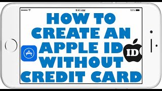 How To Create An Apple Id Icloud Id Without Credit Card Or Computer