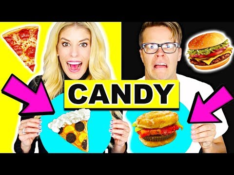 Making Food out of CANDY! Gummy Vs Real