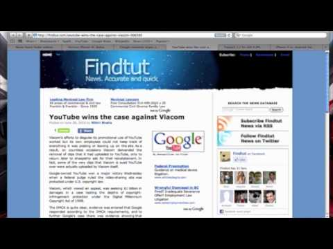 Youtube wins case against viacom!!  Ben's Tech News June 26,2010