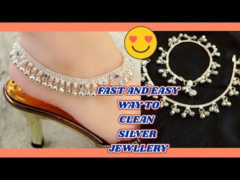 How to clean silver jewelry fast and easy