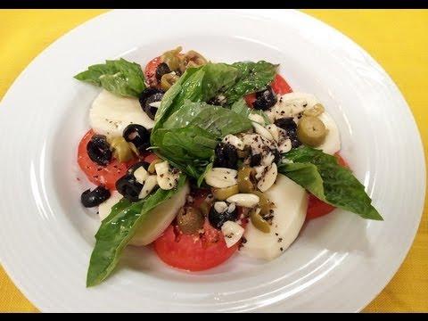 Tomato Mozzarella and Olive Salad | Sanjeev Kapoor Khazana