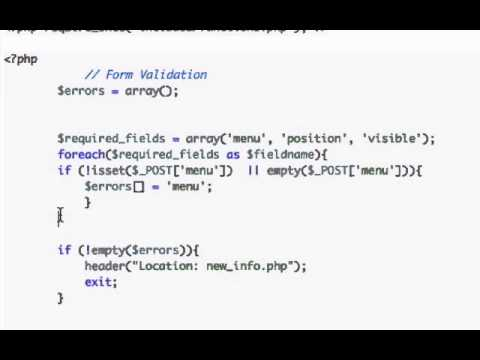 Building a CMS with PHP part 57 - Foreach
