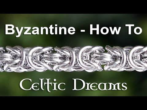 How To Make Byzantine Chain Mail Bracelet or Necklace - Best Tutorial in 1080 HD Macro