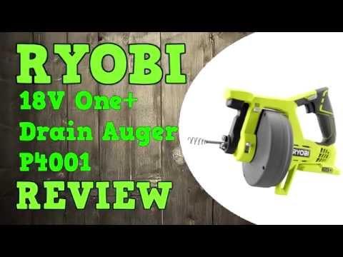 Ryobi Drain Auger Review P4001 18V One+