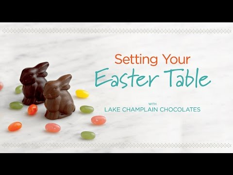 Easter Chocolate Table Setting