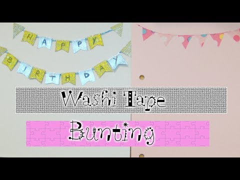 How To Make Washi Tape Bunting - Collab with Beadaholic94