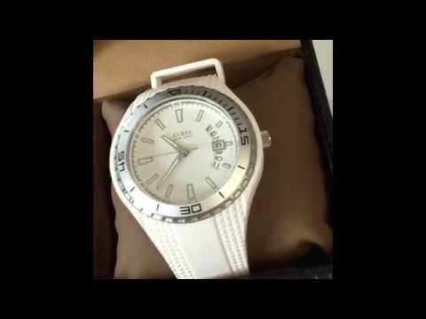 Guess Mens White rubber strap watch W95143G3