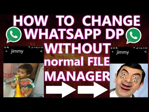 how to change whatsapp profile picture dp of others in hindi