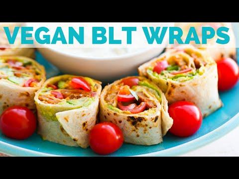 Vegan BLT Roll-Ups + Vegan Ranch Dip