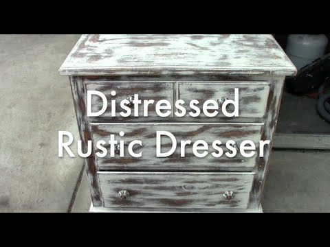 Distressed Rustic Dresser