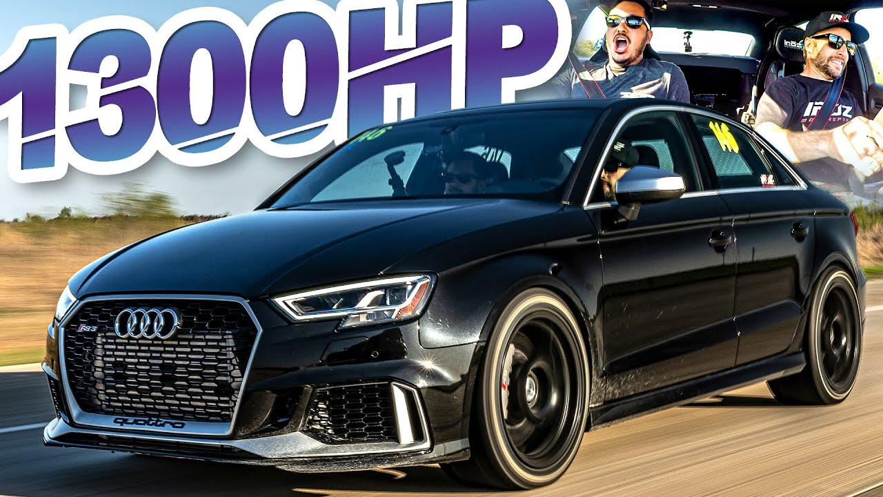 "1300HP Audi RS3 ""Family Sedan"" Rolling Antilag Ride-along! (2.5L AWD 0-60MPH in 1.6s)"