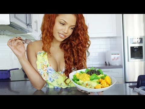 WHAT I EAT IN A DAY! -  Vegetarian + Healthy