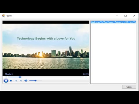 C# Tutorial - How to Embed Windows Media Player on a Form | FoxLearn