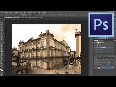 Poner filtro sepia a fotografía Photoshop CS6 - Tutorial Rápido - Español