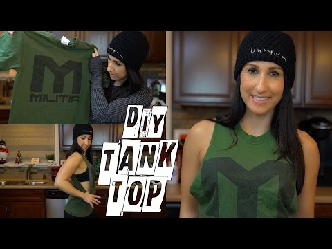 How to Cut Any Shirt Into A Tank Top
