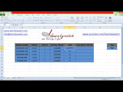 How to use Absolute cell references in Excel by Saurabh Kumar (Hindi / Urdu)