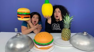 Download Giant Squishy Food VS Real Food Challenge!! NEW SQUISHIES!! Video