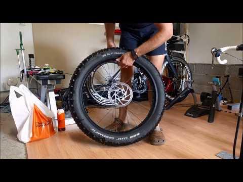 Fatbike Ghetto Tubeless for a non-tubeless wheels with split tube