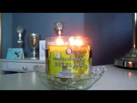 Candle Review: NEW Bath and Body Works Sparkling Pear Riesling!