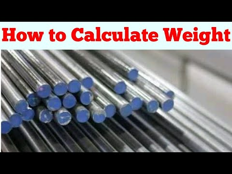 How to Calculate Weight of Round Mild Steel | Weight Of Mild Steel | UNIT WEIGHT OF STEEL | MS ROD