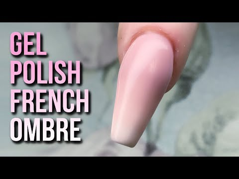 How to Create a French Ombre with Gel Polish  - Easy Hack - Step by Step Tutorial