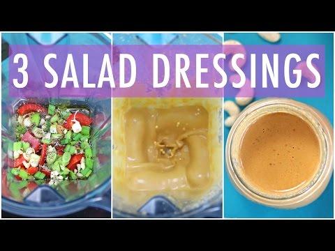 3 Homemade Salad Dressing Recipe | EASY & HEALTHY RECIPES