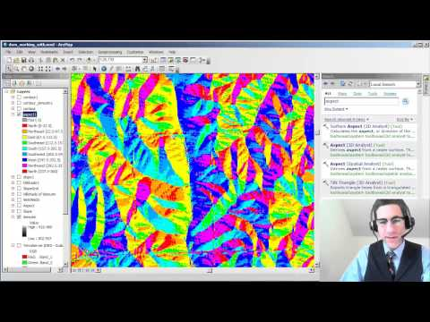 Creating an Aspect Map from a Digital Elevation Model in ArcGIS