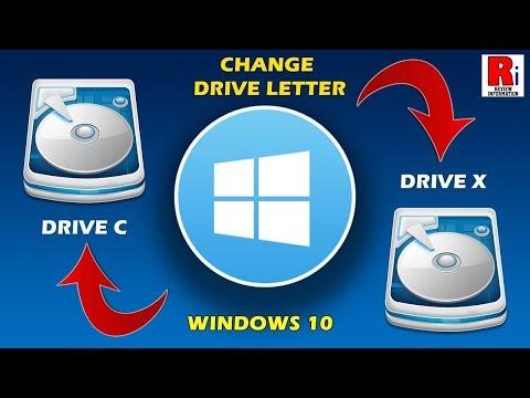CHANGE DRIVE LETTERS IN WINDOWS 10