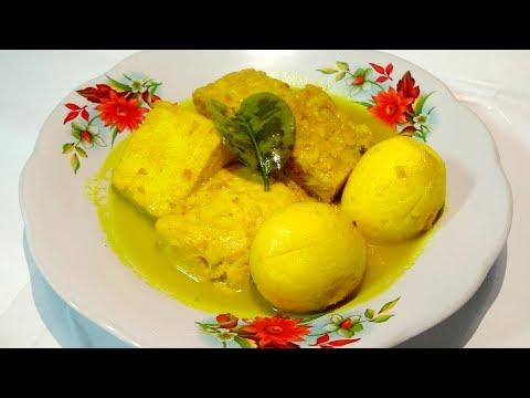 Resep Telur Tahu Tempe Bumbu Kuning