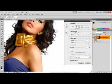Background removal techniques in Photoshop CS5 Tutorial