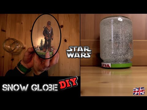 Snow Globe DIY - How to make your own Snow Globe Star Wars Christmas Special Easy DIY  Tutorial