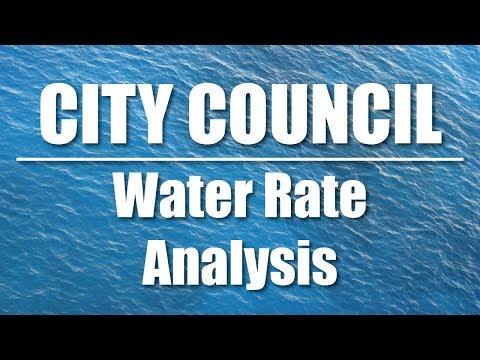 CITY COUNCIL: Special Meeting #2 Regarding Water Rate Analysis (10/26/17)