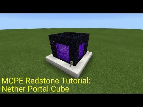 Minecraft Pocket Edition Redstone Tutorial: Nether Portal Cube (MCPE 1.0.5)