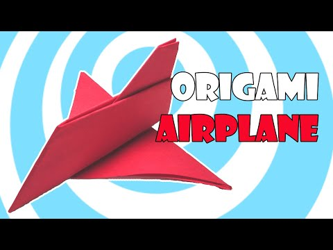 Paper Origami Airplane Toy Instructions (Origamite)